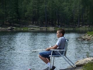 Massey family camping fishing at willow springs lake for Camping and fishing in arizona