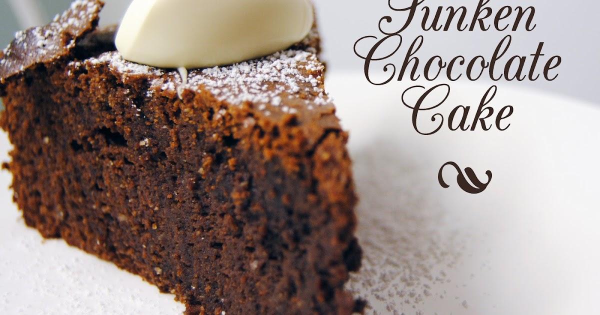 Sunken Chocolate Souffle Cake