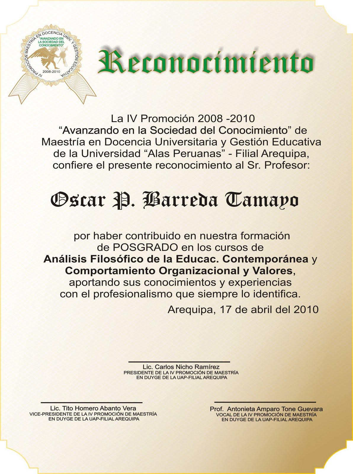 blog de karlitos modelo placa de recordatorios ceremonia de egresado maestria 2008 uap arequipa