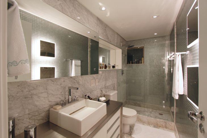 Decorando nossa casa! Revestimento Banheiro -> Banheiro Clean Com Pastilha