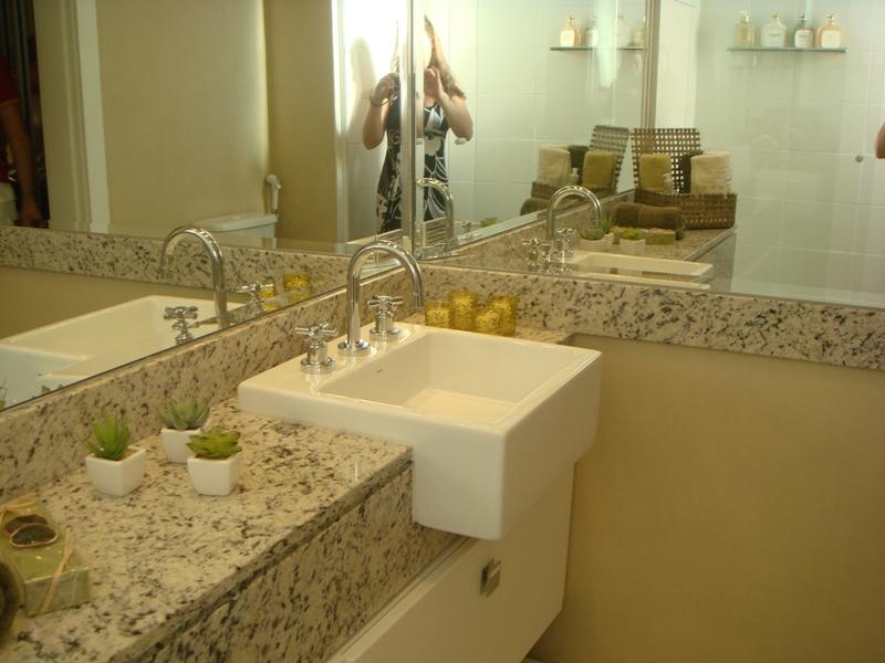 Decorando nossa casa! Solução para Banheiros -> Banheiro Decorado Com Pia De Granito