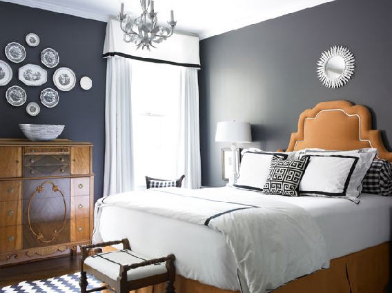 Secret ice blue and grey bedroom ideas Decorating ideas for bedroom with gray walls