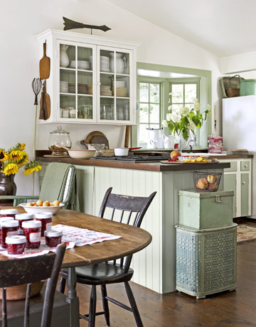 C b i d home decor and design exploring wall color for Green country kitchen ideas