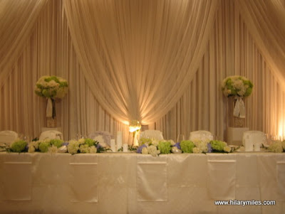 The Head TableDraping Linens by Upright Decor