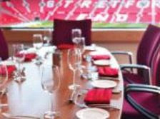 Corporate tables at Old Trafford, pricey now but very nice.