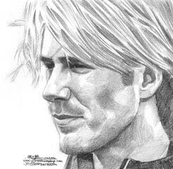 david beckham portrait pencil