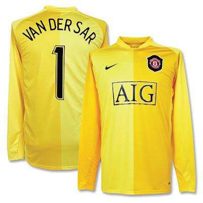 van der sar manchester united goalkeeper shirt