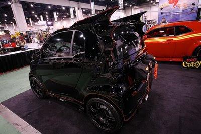 batmobile green smart car