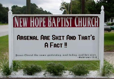 arsenal are shit church sign funny picture