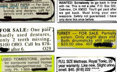 crazy classified ads