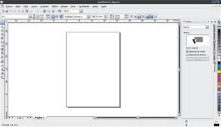 Área de trabalho do Corel Draw