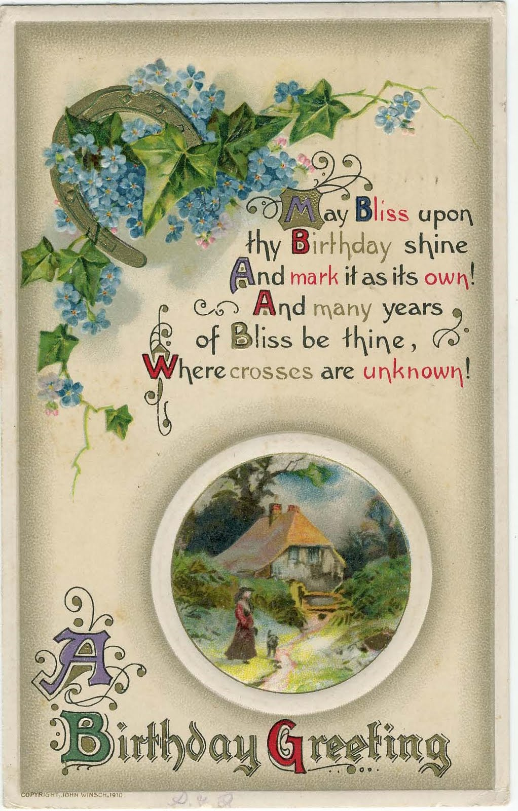 Vintage Birthday Wishes For Sister ~ Treasures n textures vintage birthday wishes