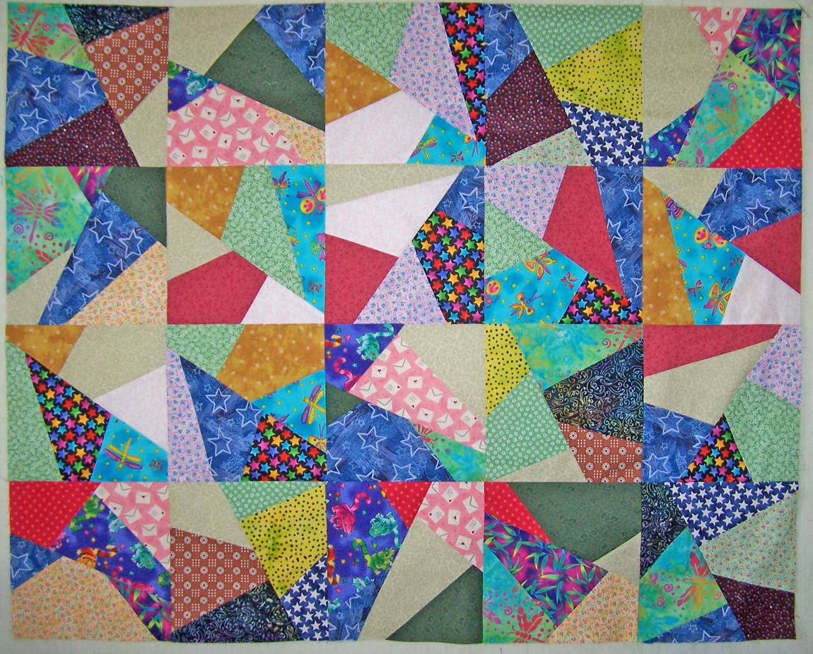 Crazy Quilt Pattern Images : Treasures-n-Textures: Progress on my Simply Crazy Quilt