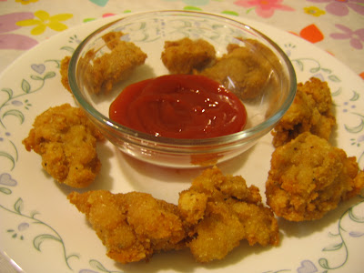 chicken nuggets. made chicken nugget is the
