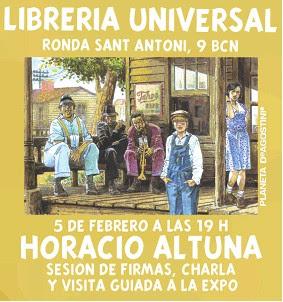 Sesión de firmas de Horacio Altuna
