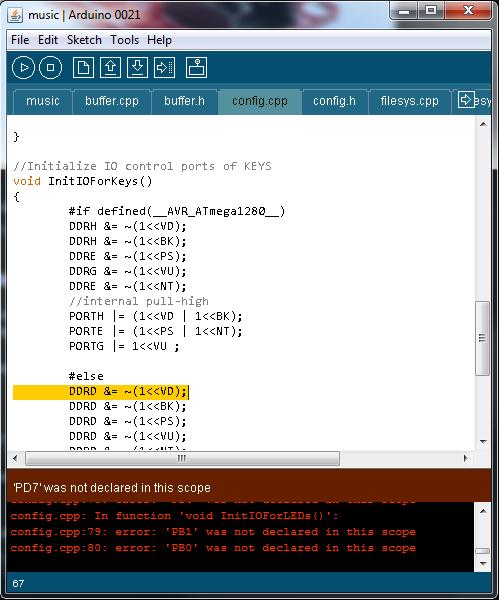 Arduino lessons error pb was not declared in this scope