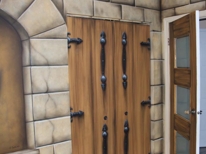 faux fini médiéval/portes,murs
