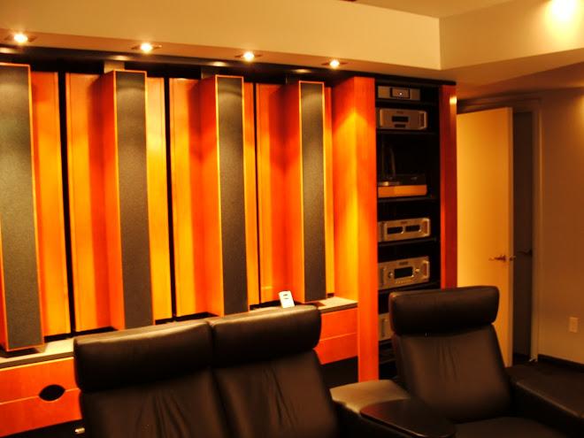 meuble audio et salle d'écoute