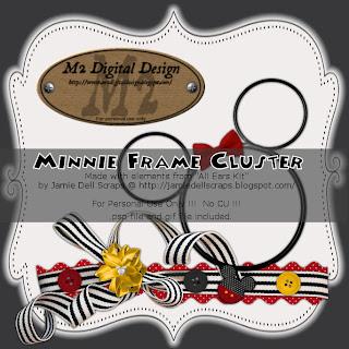 {Kits Digitais} Disney - Mickey, Minnie, Baby Disney Minnie+frame+cluster+PREVIEW