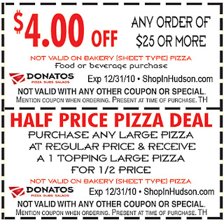donatos coupons