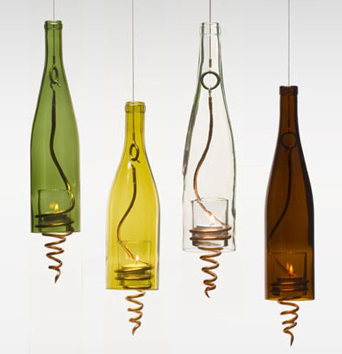 Craft Ideas  Glass Bottles on The Three Bottle Sconce  Right  From Meyda Has Character Galore