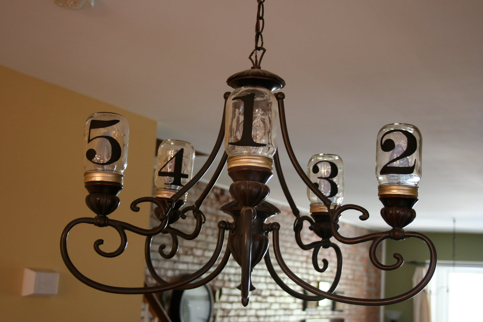 Mason jar chandelier home stories a to z mason jar chandelier arubaitofo Image collections