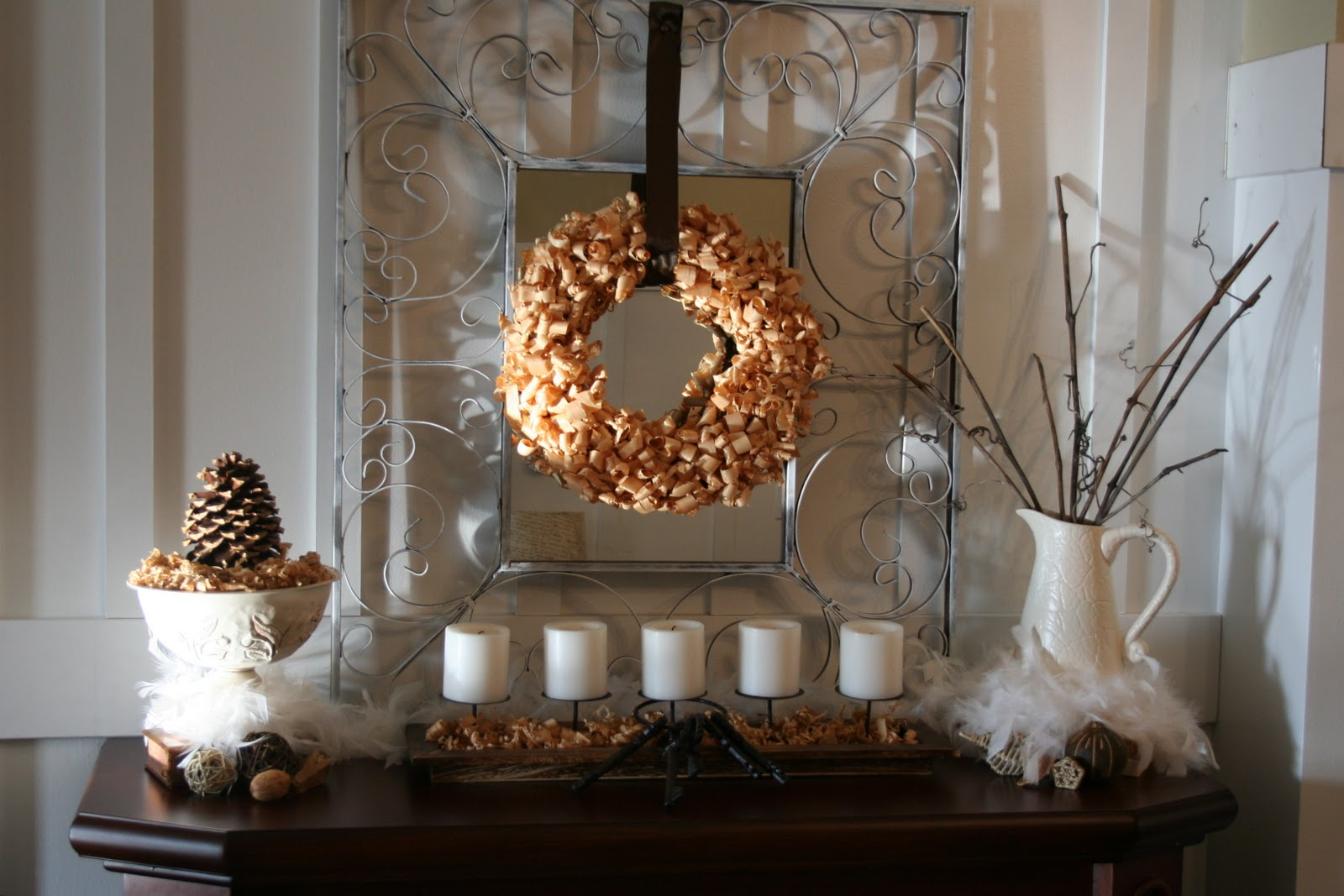 Winter Mantel Linky Party