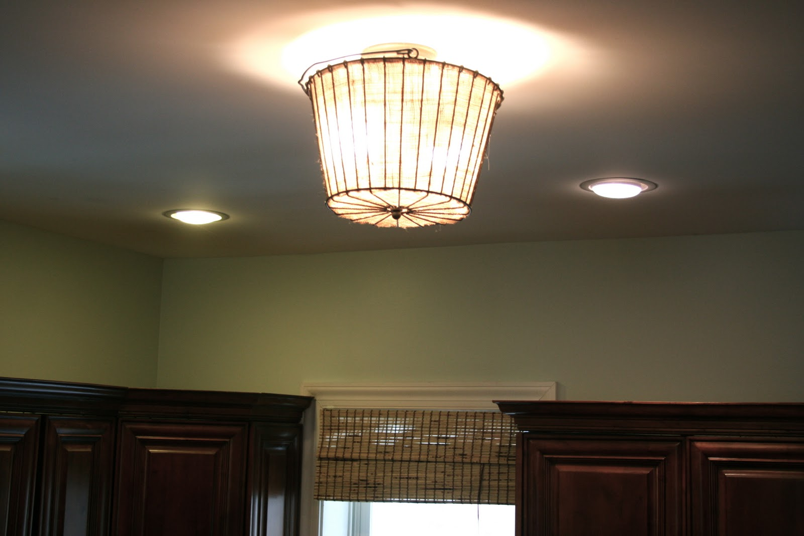 How to make burlap light shades home stories a to z for those about to comment that its a fire hazard be sure to buy this stuff and spray your burlap with it arubaitofo Choice Image