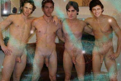 With Men of charmed naked