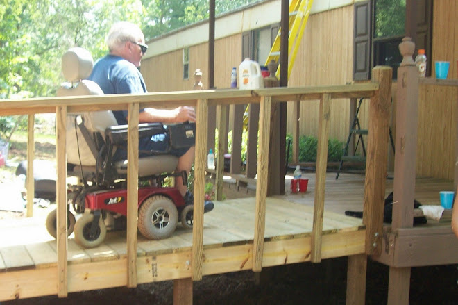 Wayne is loving his new ramp