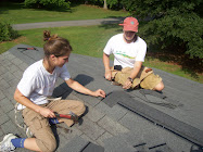 Casey and Kimbo capping the roof