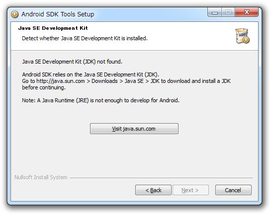 Java SE Development Kit (JDK) not found.