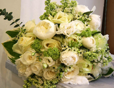 Ivory Green Bridal Bouquet We 39ve used a fabulous selection of White