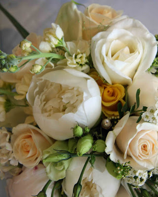 Vintage Cream Gold Lemon Ivory Wedding Bouquet