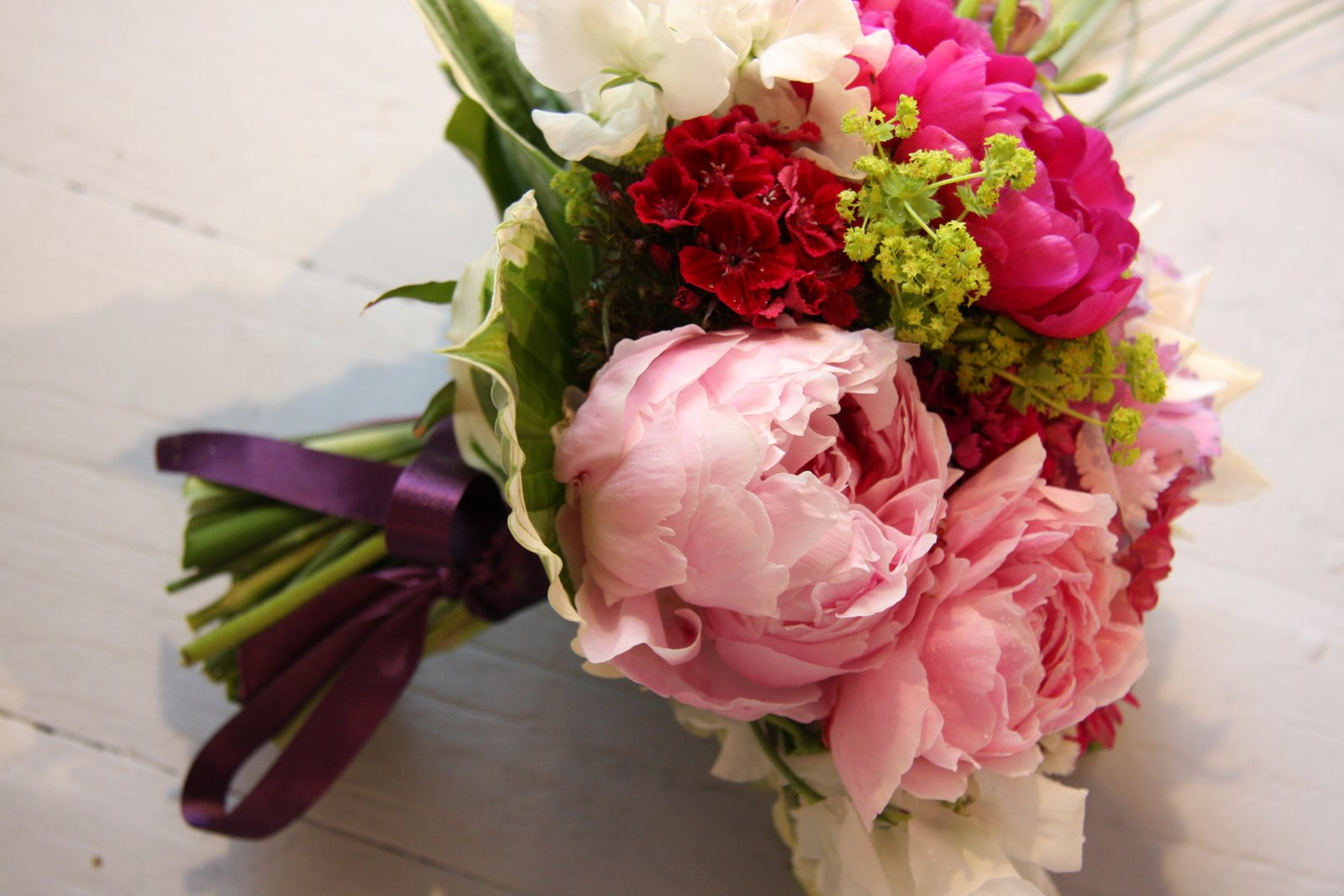 The Flower Magician: Violet & Hot Pink Two Tone Wedding Bouquet