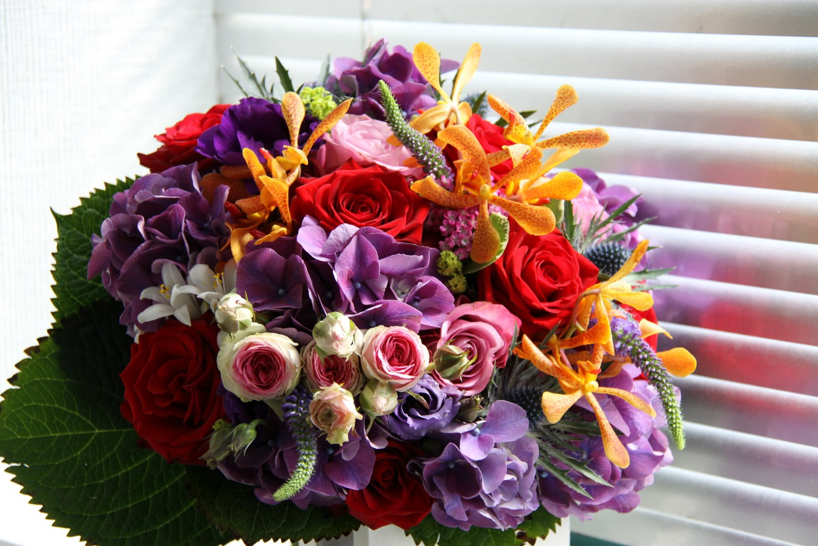 The Flower Magician Indian Summer Wedding Bouquet To Tone With Purple