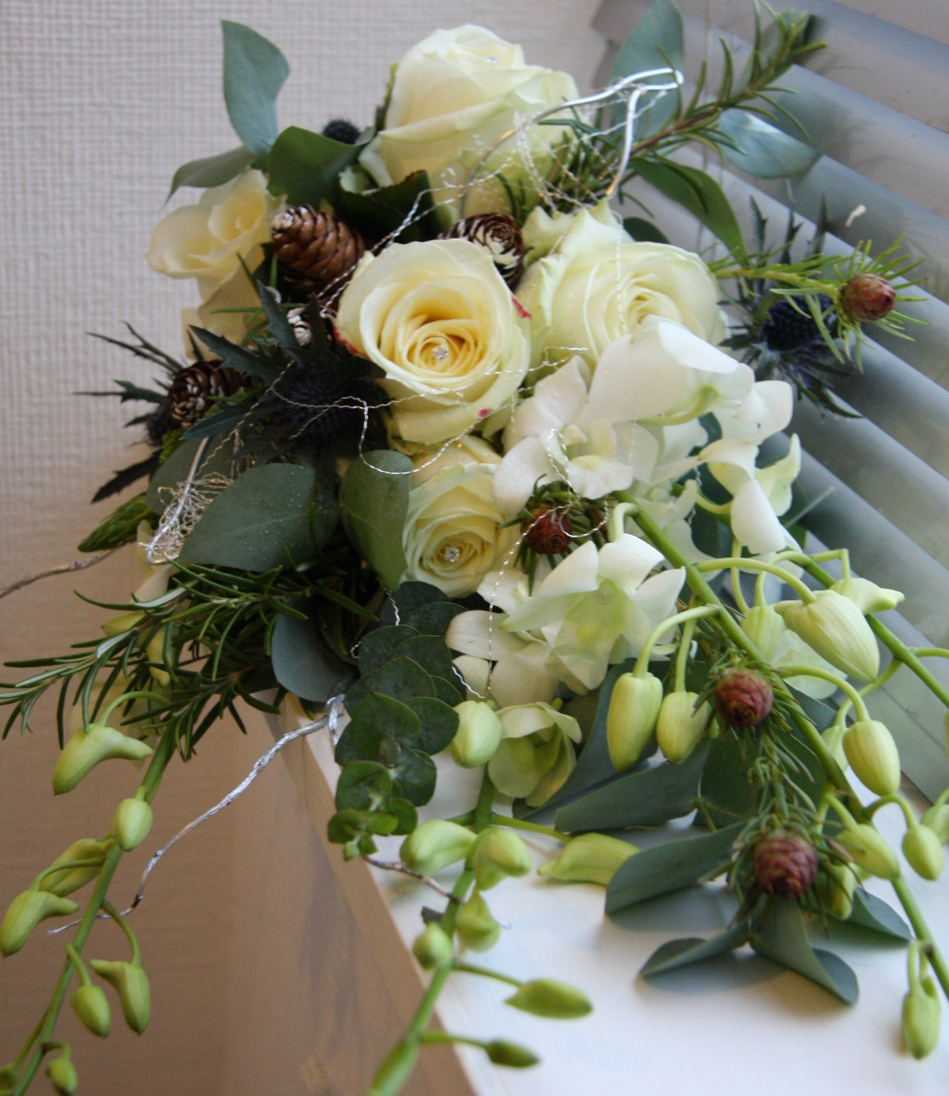 Christmas Wedding Flowers: The Flower Magician: Frosty Christmas Wedding Bouquet