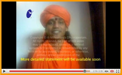 Swami Nithyananda Speaks for  the first time after the Sex Scandal allegation