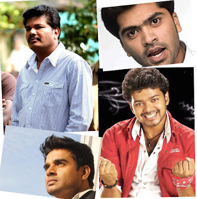 Vijay,Madhavan,and STR in Shankars 3 Idiots