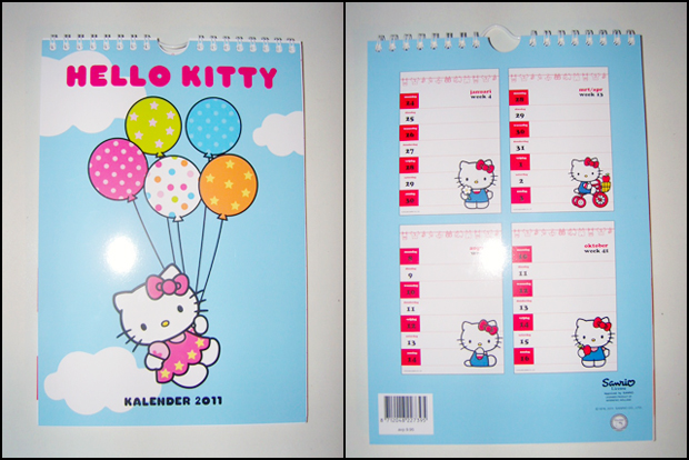 hello kitty 2011 calendar