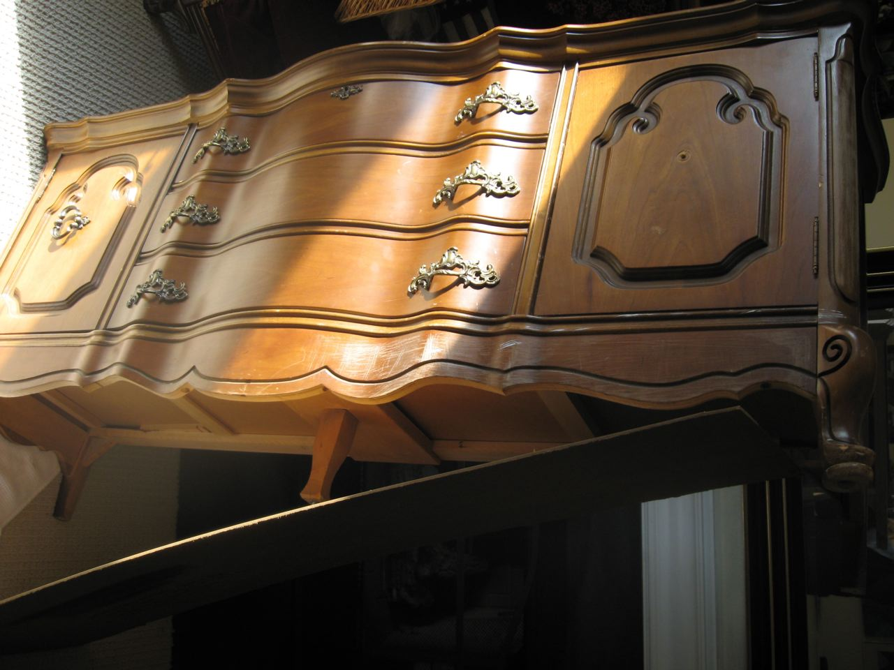 Dresser turned bathroom vanity - I Love Love Love The Look Of A Sideboard Or Dresser Turned Into A Bathroom Vanity I Looked At So Many Pictures Of Furniture That Had Been Turned Into A
