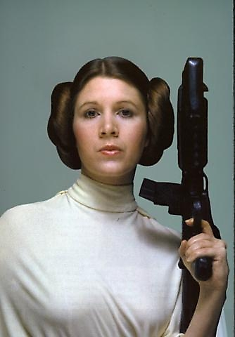 carrie fisher leia. Carrie Fisher did a damn fine