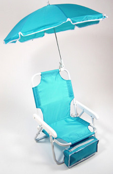 ... Baby Beach Chair with Umbrella in blue. Features Include : childrens beach chairs with umbrella - Cheerinfomania.Com
