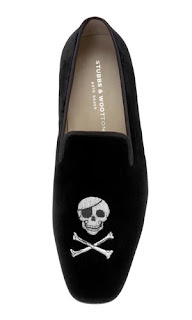 skull and crossbone slippers by Stubbs & Wootton