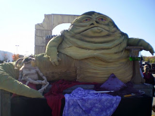 completed Jabba the Hut lifesize puppet