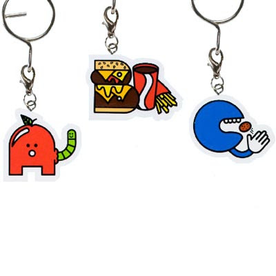 hong kong fashion geek alphabet keychain