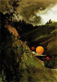 الرسم المبين هو لفنان مجهول ويعود إلى تاريخ شهر يوليو من عام 1888 و يجسد كرات ضوء كانت قد شوهدت بالقرب من مدينة سان بطرسبروغ في روسيا