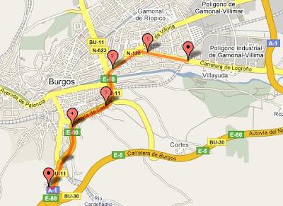 Cortesía de Google Maps Pedometer