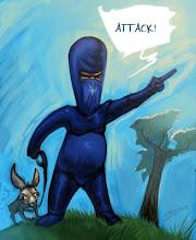 Un ninja indignado por Andrés Lozano