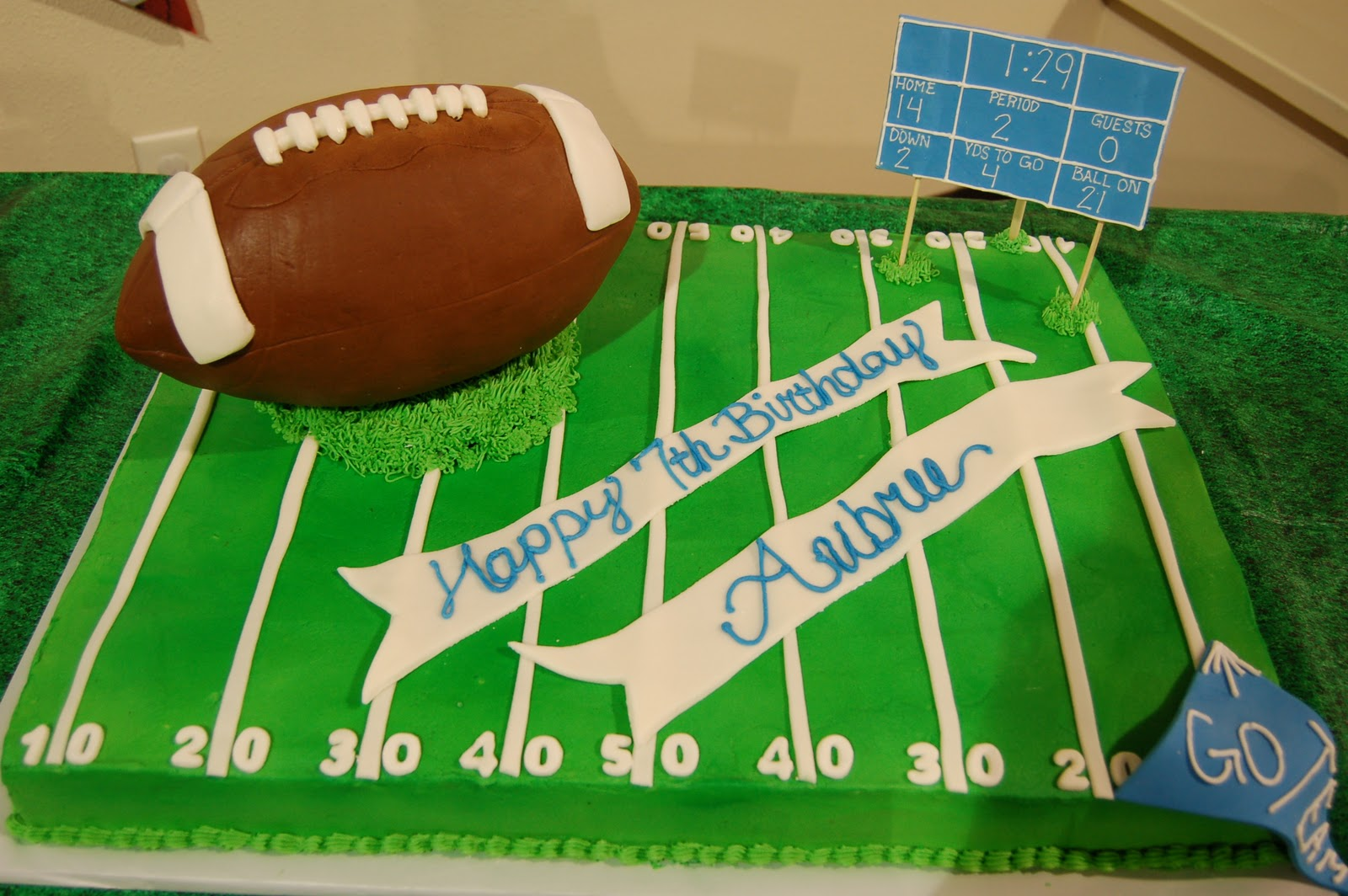 Football Themed Cakes http://cestsibonsweets.blogspot.com/2011/01/football-birthday-cake.html